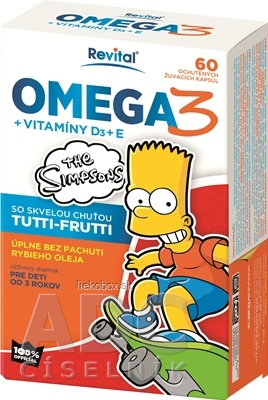 Revital The Simpsons Omega 3 + vitamíny D3 a E 60 tbl