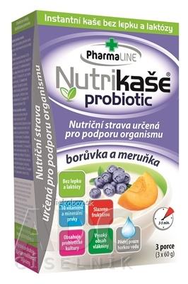 Nutrikaša probiotic čučoriedka a marhuľa 3x60 g