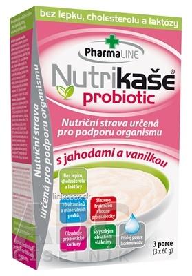 Nutrikaša probiotic s jahodami a vanilkou 3x60 g