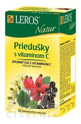 LEROS Natur Priedušky s vitamínom C bylinný čaj 20x1,5g