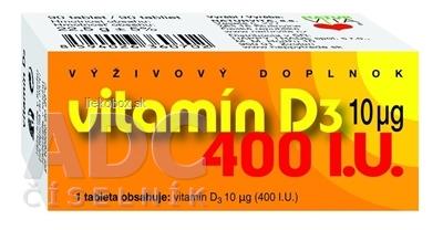 NATURVITA VITAMÍN D3 10 μg 90 tbl