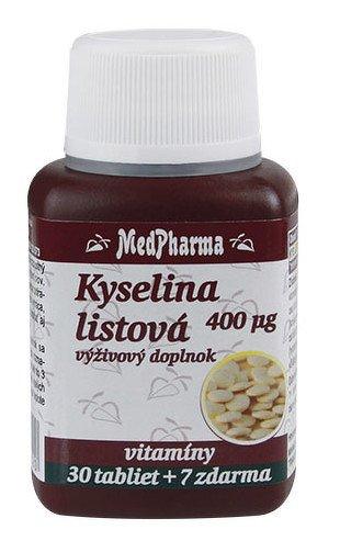 MedPharma Kyselina listová 400mcg 30+7 tabliet zdarma