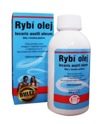 Rybí olej, Olej z tresčej pečene iecoris aselli oleum, 200 g