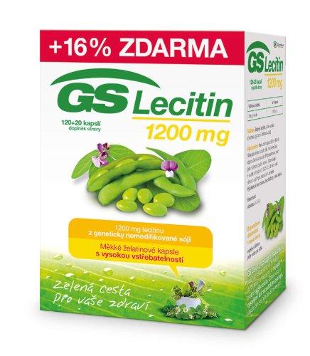 GS Lecitín 1200 cps 120+20 zadarmo