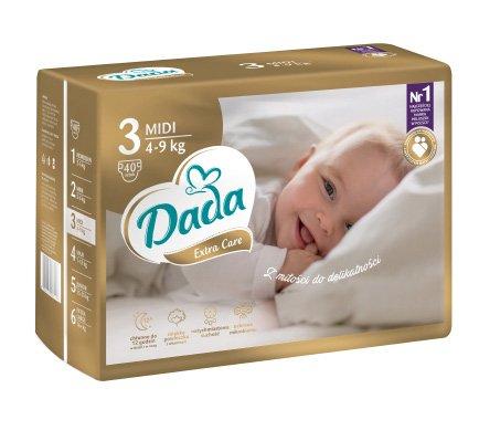 DADA Extra Care MIDI, veľ. 3, 40 ks