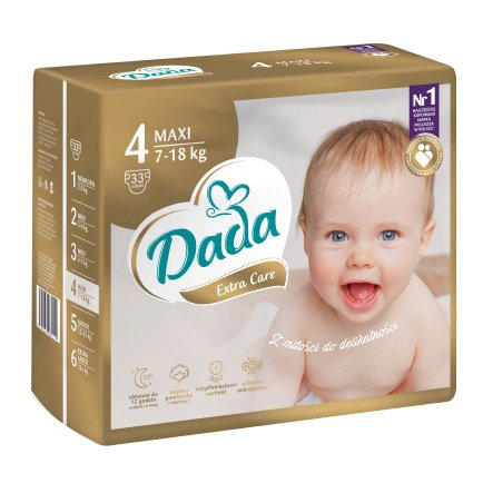 DADA Extra Care MAXI, veľ. 4, 33 ks