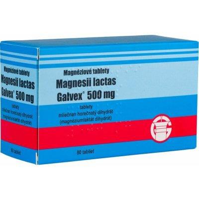 Magnéziové tablety galvex 500 mg 80 tbl