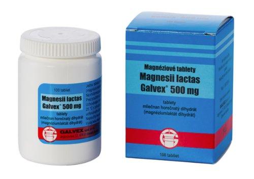 Magnéziové tablety galvex 500 mg 100 tbl