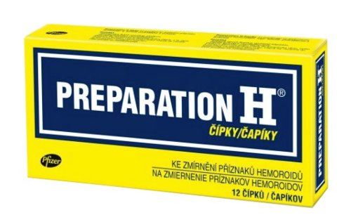 Preparation H čapíky 12 ks