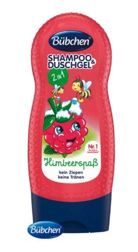 Bübchen Kids šampón a sprchovací gél 2v1 Veselá malina 230 ml