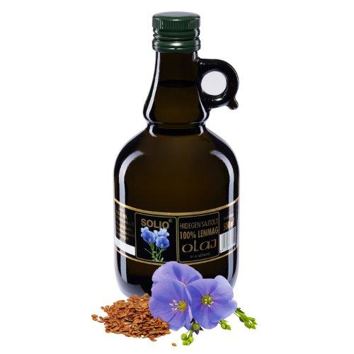 SOLIO ľanový olej za studena lisovaný olej 500 ml