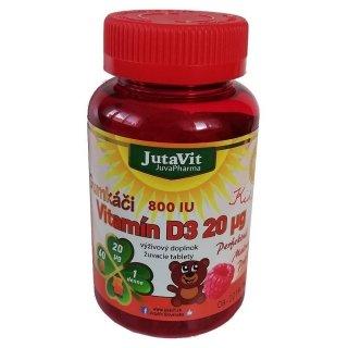 JutaVit Gumkáči Vitamín D3 20µg Kids 60 tbl