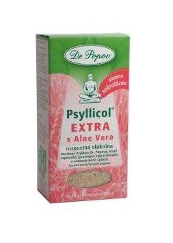 DR. POPOV PSYLLICOL EXTRA s Aloe Vera rozpustná vlaknina s príchuťou citrusov 100 g