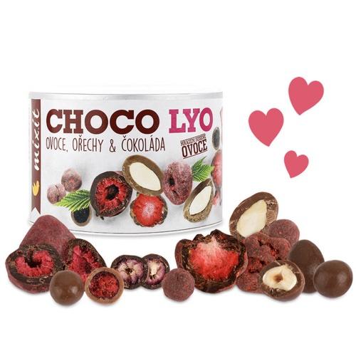 MIXIT Chrumkavé ovocie a orechy v čokoláde 180 g