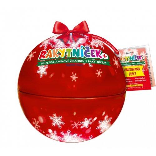 Terezia Rakytníček želatínky vianočná guľa červená 50ks