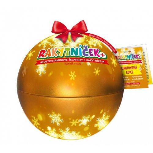 Terezia Rakytníček želatínky vianočná guľa zlatá 50ks