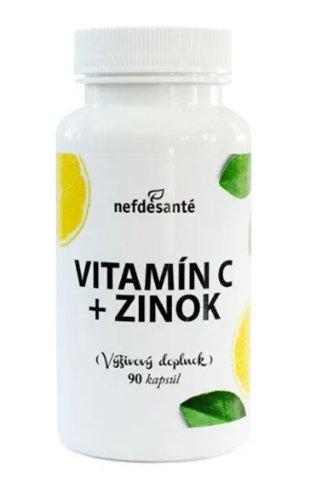 Nefdesanté Vitamín C + Zinok 90tbl