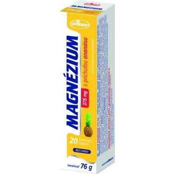 Vitar MAGNÉZIUM 375 mg tbl eff s príchuťou ananásu 20 ks