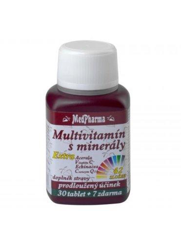 MedPharma Multivitamín s minerálmi extra 42 zložiek 30+7 tbl zadarmo