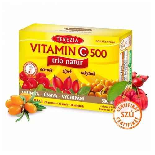 Terezia Vitamin C 500 trio natur 60 cps