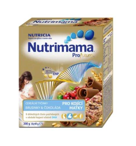 Nutrimama Profutura cereálne tyčinky Brusnice & Čokoláda5x40 g