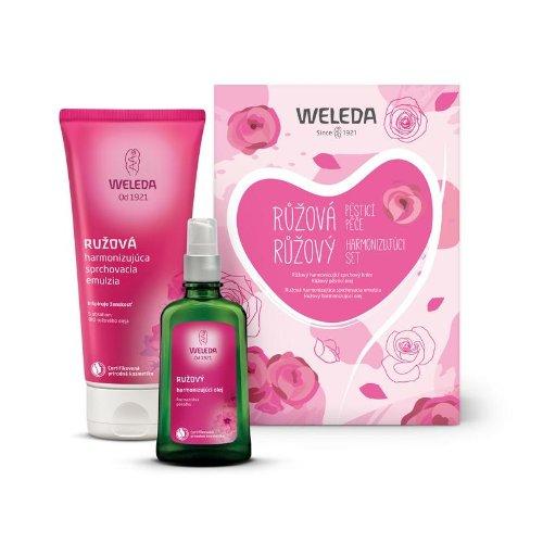 WELEDA Ružový harmonizujúci set 200 ml + 100 ml