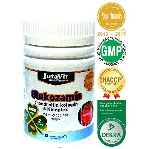 JutaVit Glukozamín chondroitín kolagén 6 Komplex 72 tbl