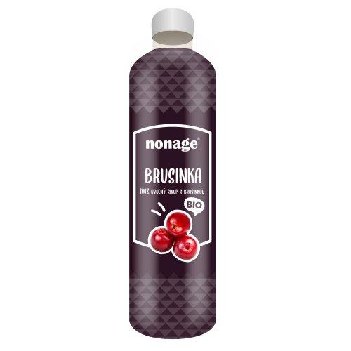 NONAGE Brusnicový ovocný sirup BIO 330 ml