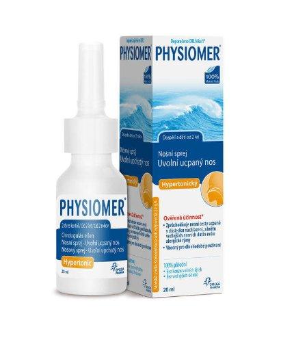 PHYSIOMER Nosový sprej Hypertonický s obsahom morskej vody 20 ml