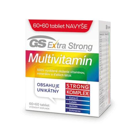 GS Extra Strong Multivitamín, 60 + 60 tbl