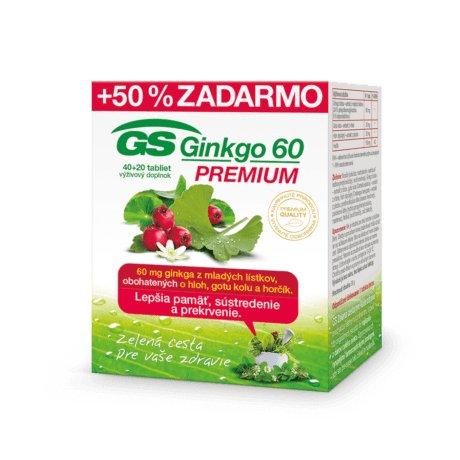 GS Ginkgo Premium 60 tbl 40+20