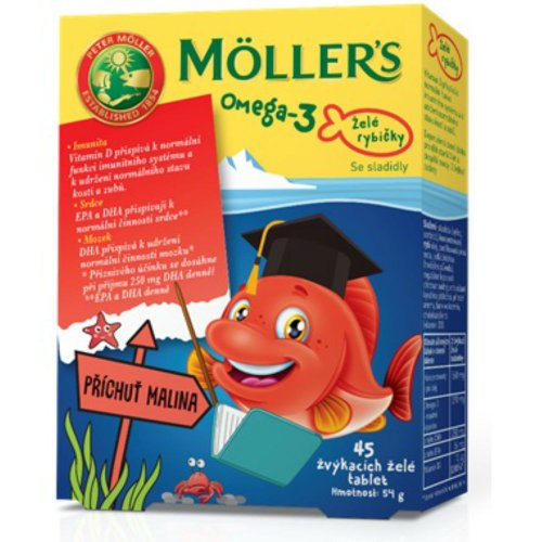 MÖLLER´S Omega 3 želé rybičky 45 ks