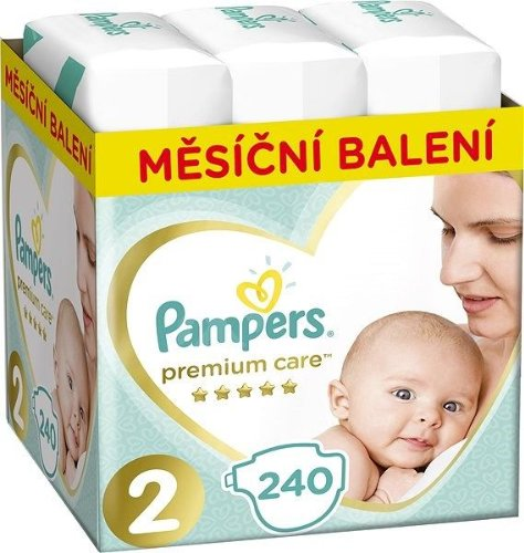 PAMPERS Premium Care 2 MINI 240 ks (4-8 kg) MESAČNÁ ZÁSOBA