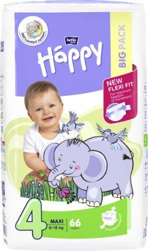 BELLA HAPPY Maxi Big Pack 4 (8-18 kg), 66 ks