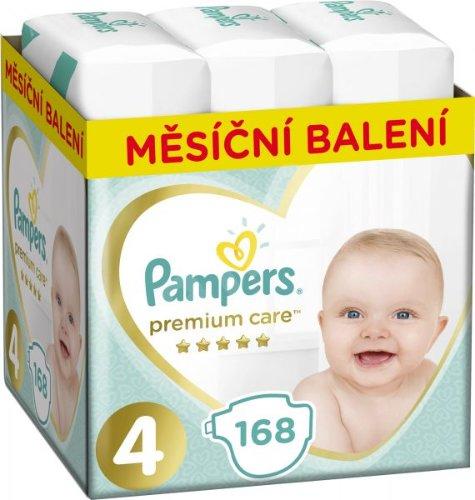 PAMPERS Premium Care 4 MAXI 168 ks (9-14 kg) MESAČNÁ ZÁSOBA