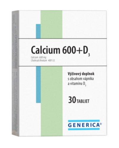 Generica Calcium 600+D3 30 tbl