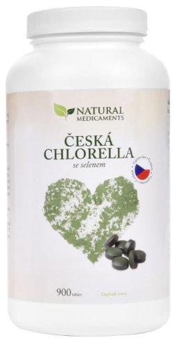 Natural Medicaments Česká chlorella so selénom 900 tbl.
