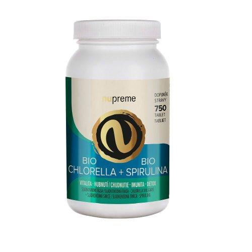 NUPREME Chlorella + Spirulina BIO 750 tbl