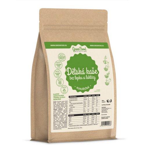 GREENFOOD NUTRITION Detská kaša bez lepku a laktózy kukuričná 500 g