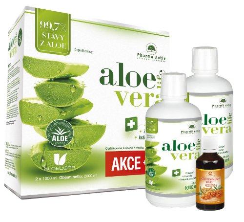 Akčný SET Aloe Vera Life 1000 ml 1 + 1 s príbalom 100% Rakytníkový olej 50 ml
