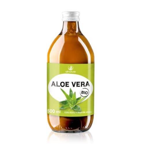Allnature Aloe vera – 100 % Bio šťava 500 ml