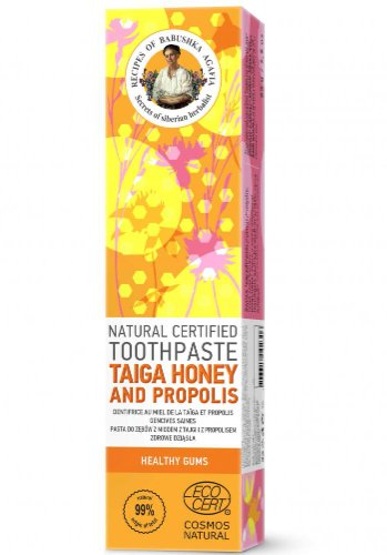 NATURA SIBERICA Zdravé ďasná - RBA Prírodná certifikovaná zubná pasta - Med z Tajgy a Propolis 85 g