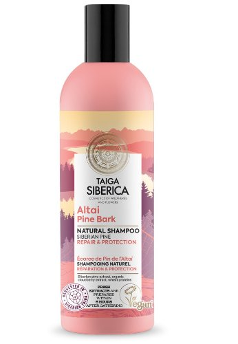 """Prírodný šampón """"Altajská kôra borovice"""" Taiga Siberica 270 ml"""