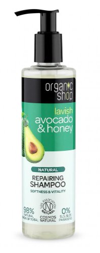 Organic Shop - Avokádo & Med - Obnovujúci šampón 280 ml