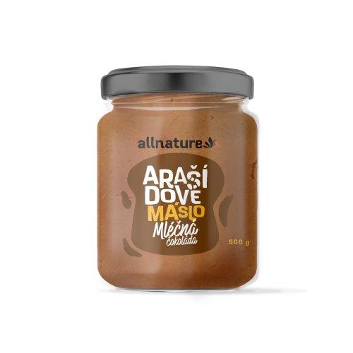 ALLNATURE Arašidové maslo s mliečnou čokoládou 500 g