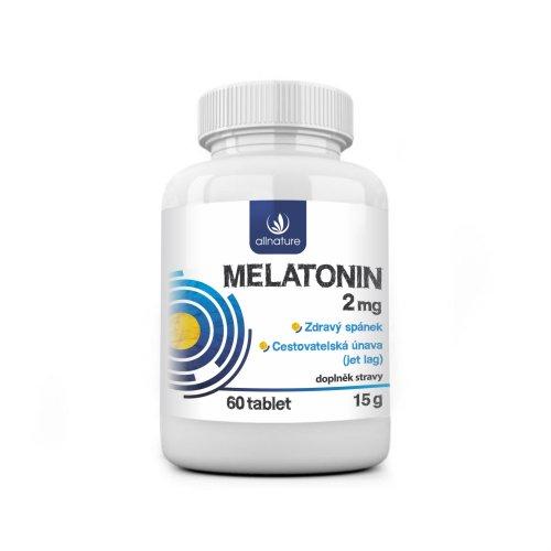Allnature Melatonín 2 mg 60 tbl