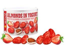 Mixit Mandle v jogurte s jahodovým prachom 240 g