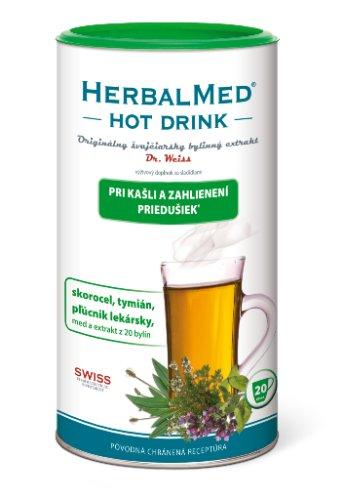 HERBALMED HOT DRINK kašeľ a priedušky-Dr.Weiss 180 g