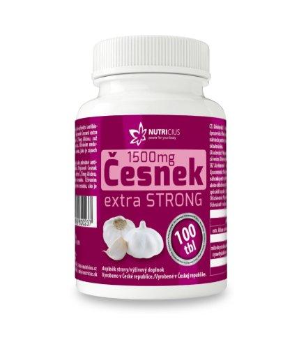 NUTRICIUS Cesnak extra STRONG tbl 100 ks