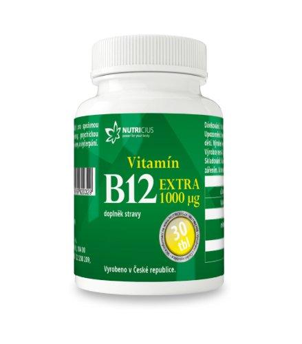 Nutricius Vitamín B12 Extra 1000 μg 30ks